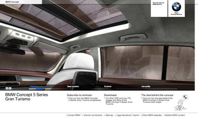 BMW Concept 5 Website