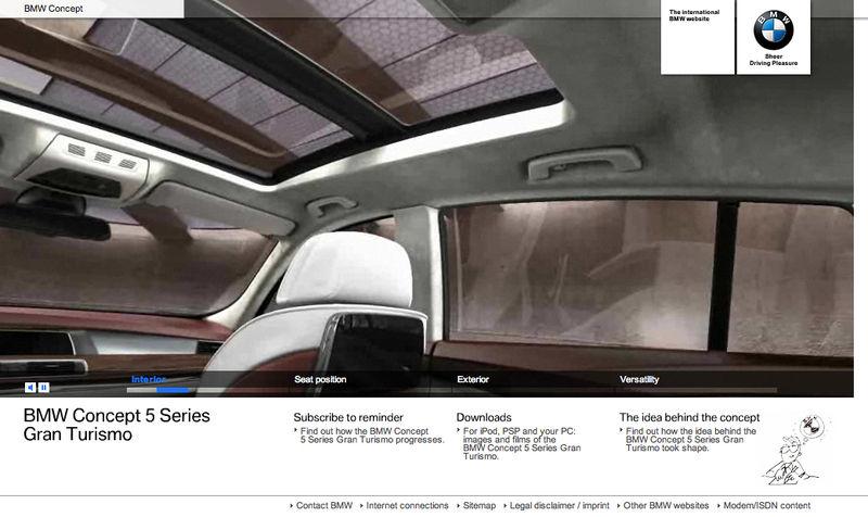 BMW Concept 5 Website